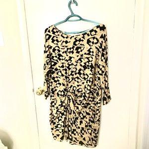 Zara 100% silk long sleeves dress